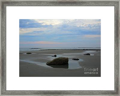 Low Tide Framed Print by Edward Sobuta