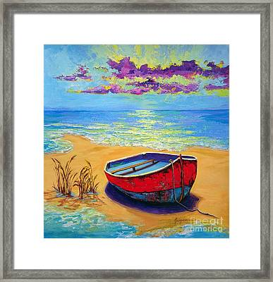 Low Tide - Impressionistic Art, Landscpae Painting Framed Print by Patricia Awapara