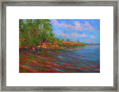 Low Tide In Mobile Bay Framed Print