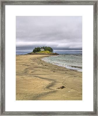 Low Tide In Popham Beach Maine Framed Print by Tammy Wetzel