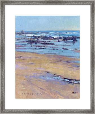 Low Tide / Crystal Cove Framed Print