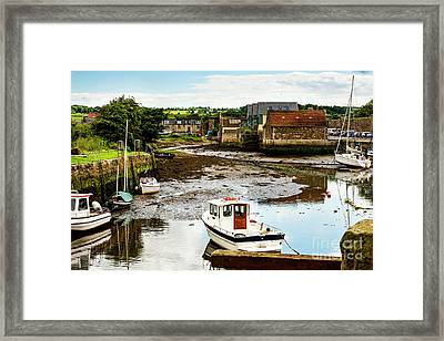Low Tide Framed Print by MaryJane Armstrong