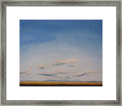 Low Tide On The Saint-lawrence River, Cap Tourmente, Quebec, Canada  Framed Print