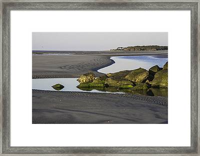 Low Tide On Tybee Island Framed Print