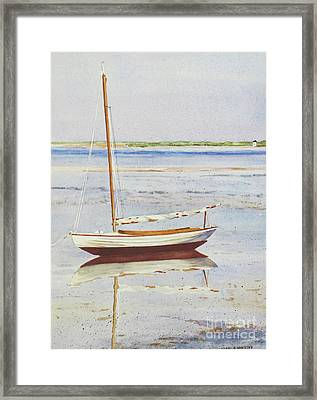 Low Tide Reflection Framed Print by Karol Wyckoff