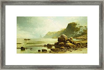 Low Tide, Southhead, Grand Manan Island Framed Print by Alfred Thompson Bricher