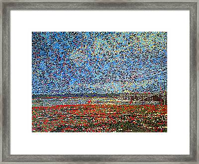 Low Tide - St. Andrews Wharf Framed Print