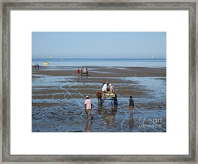 Low Tide Taxi Tulear Madagascar Framed Print by Rossano Ossi