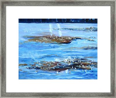 Low Tide Framed Print by Thomas Glass Phinnessee