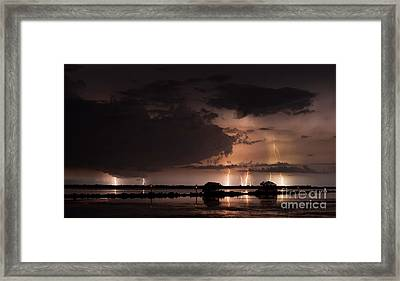 Low Tide With High Energy Framed Print by Quinn Sedam