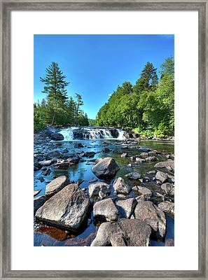 Low Water At Buttermilk Falls Framed Print