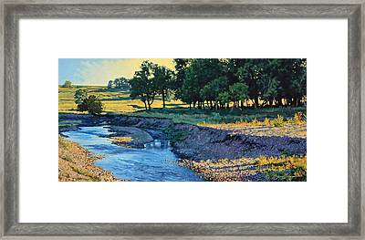 Low Water Morning Framed Print