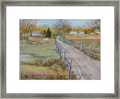 Lowcountry Road In Spring Framed Print