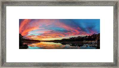 Lowcountry Sunset Charleston Sc Framed Print