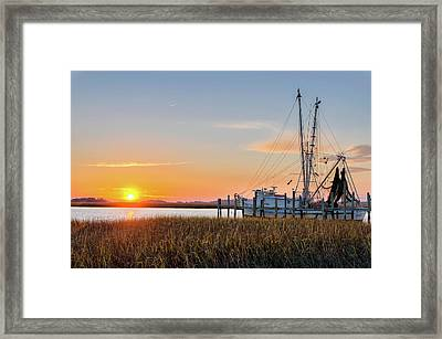 Lowcountry Sunset Framed Print by Drew Castelhano