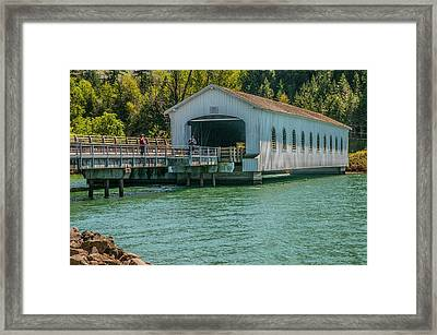 Lowell Covered Bridge Framed Print