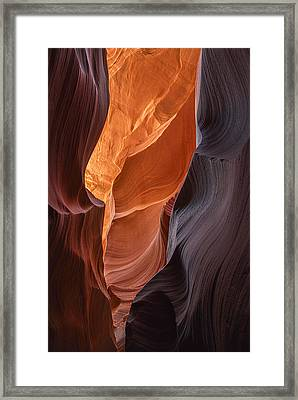 Lower Antelope Canyon Vertical Framed Print by Dave Dilli