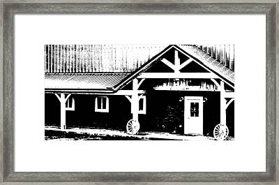 Lower Barn Framed Print by Brian Foxx