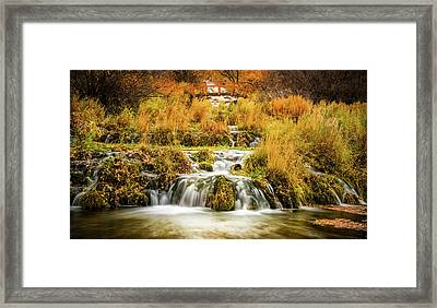 Lower Cascades At Cascade Springs Framed Print