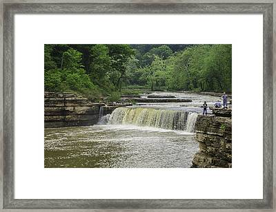 Lower Cataract Falls Framed Print by Phyllis Taylor
