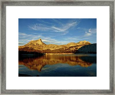 Lower Cathedral Lake Late Afternoon Framed Print