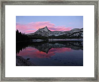 Lower Cathedral Lake Sunset Framed Print
