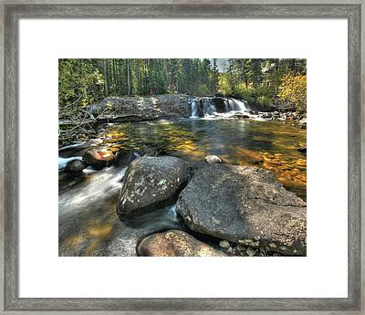 Lower Copeland Falls Framed Print