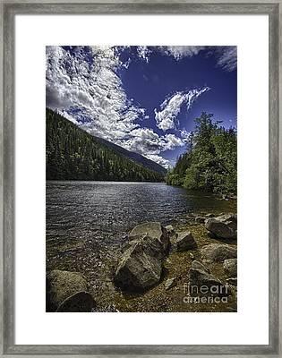 Lower Dewey Lake Framed Print by Dennis Wagner