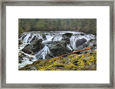 Lower Englishman Falls Framed Print by Adam Jewell