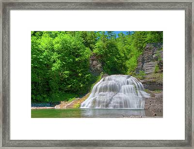 Framed Print featuring the photograph Lower Falls 0485 by Guy Whiteley