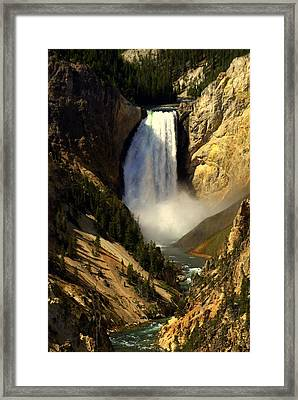 Lower Falls 2 Framed Print by Marty Koch