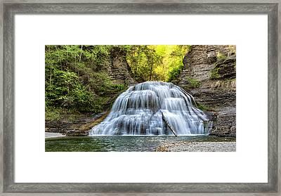 Lower Falls At Treman State Park Framed Print