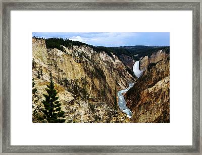 Lower Falls Framed Print by Eric Foltz