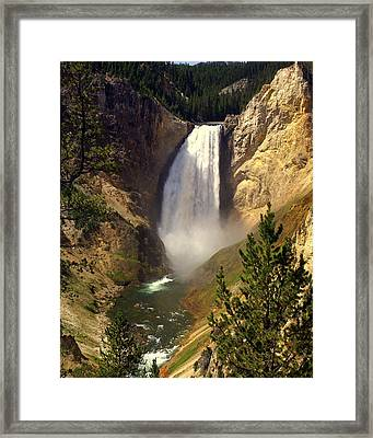 Lower Falls Framed Print by Marty Koch