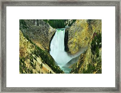 Lower Falls No Border Or Caption Framed Print
