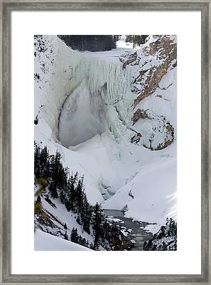 Lower Falls Of Yellowstone II Framed Print by Mary Haber