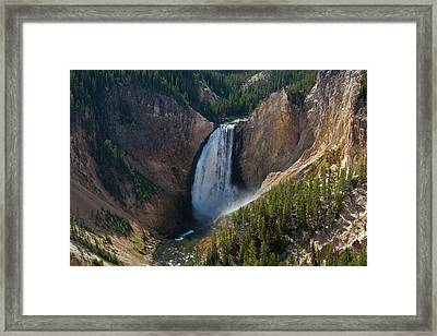Framed Print featuring the photograph Lower Falls Of Yellowstone River by Roger Mullenhour