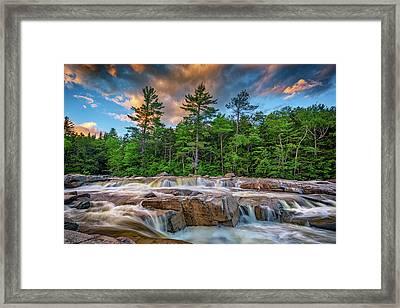 Lower Falls On Kancamagus Highway Framed Print