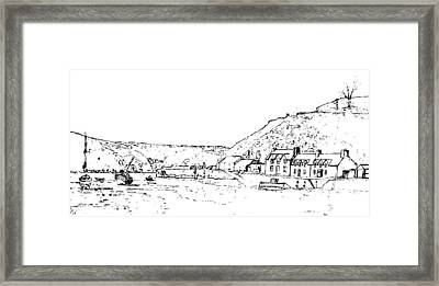 Lower Fishguard Framed Print by Frank Hamilton