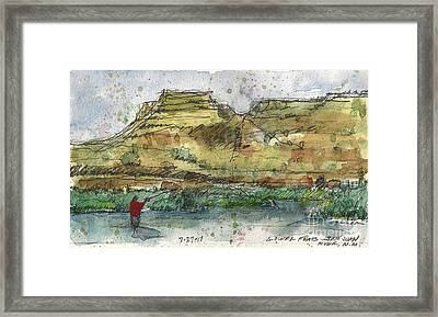Lower Flats On The San Juan Framed Print
