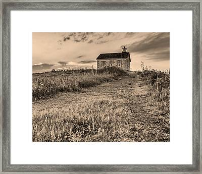 Lower Fox Creek School Framed Print