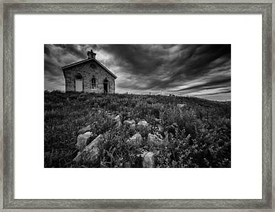 Lower Fox Creek Schoolhouse Framed Print by Rick Berk
