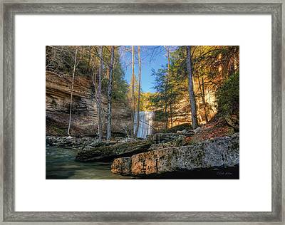 Lower Greeter Falls 2 Framed Print by Dale Wilson