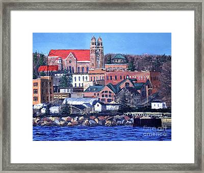 Lower Harbor-marquette Michigan Framed Print