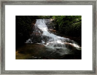 Lower Helton Creek Falls Framed Print by Dave Clark