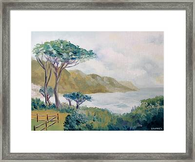 Lower Kloof Road Cape Town South Africa Oil Painting Framed Print by Mark Webster