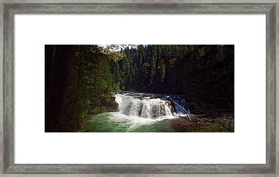 Lower Lewis Falls Framed Print