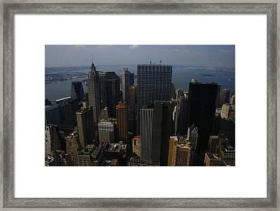 Lower Manhattan Framed Print by Christopher Kirby