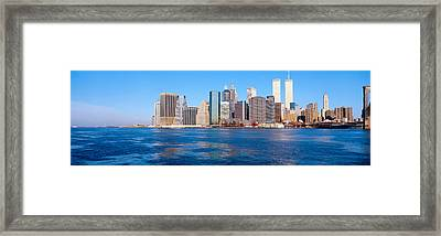 Lower Manhattan, East River, New York Framed Print by Panoramic Images