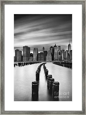 Lower Manhattan Framed Print by John Farnan